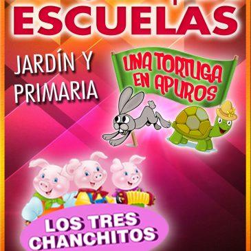 TEATRO PARA ESCUELAS: Una Tortuga en Apuros / Los Tres Chanchitos