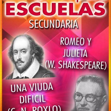 TEATRO PARA ESCUELAS: Romeo y Julieta / Una Viuda Difícil
