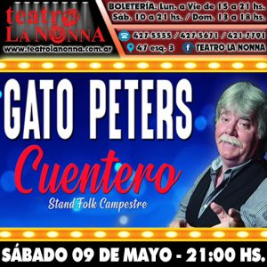 "GATO PETERS - ""Cuentero"""