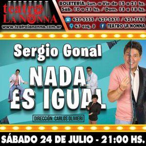 "SERGIO GONAL - ""Nada es igual"""