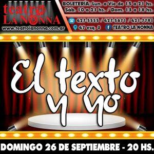 EL TEXTO Y YO @ La Plata   Buenos Aires   Argentina